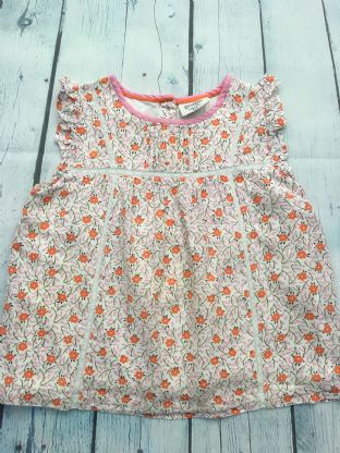 Mini Boden floral tunic with buttons up back age 4-5